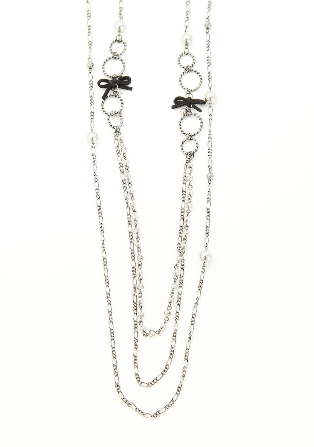 axes femme online shop   ribbon × beads necklace