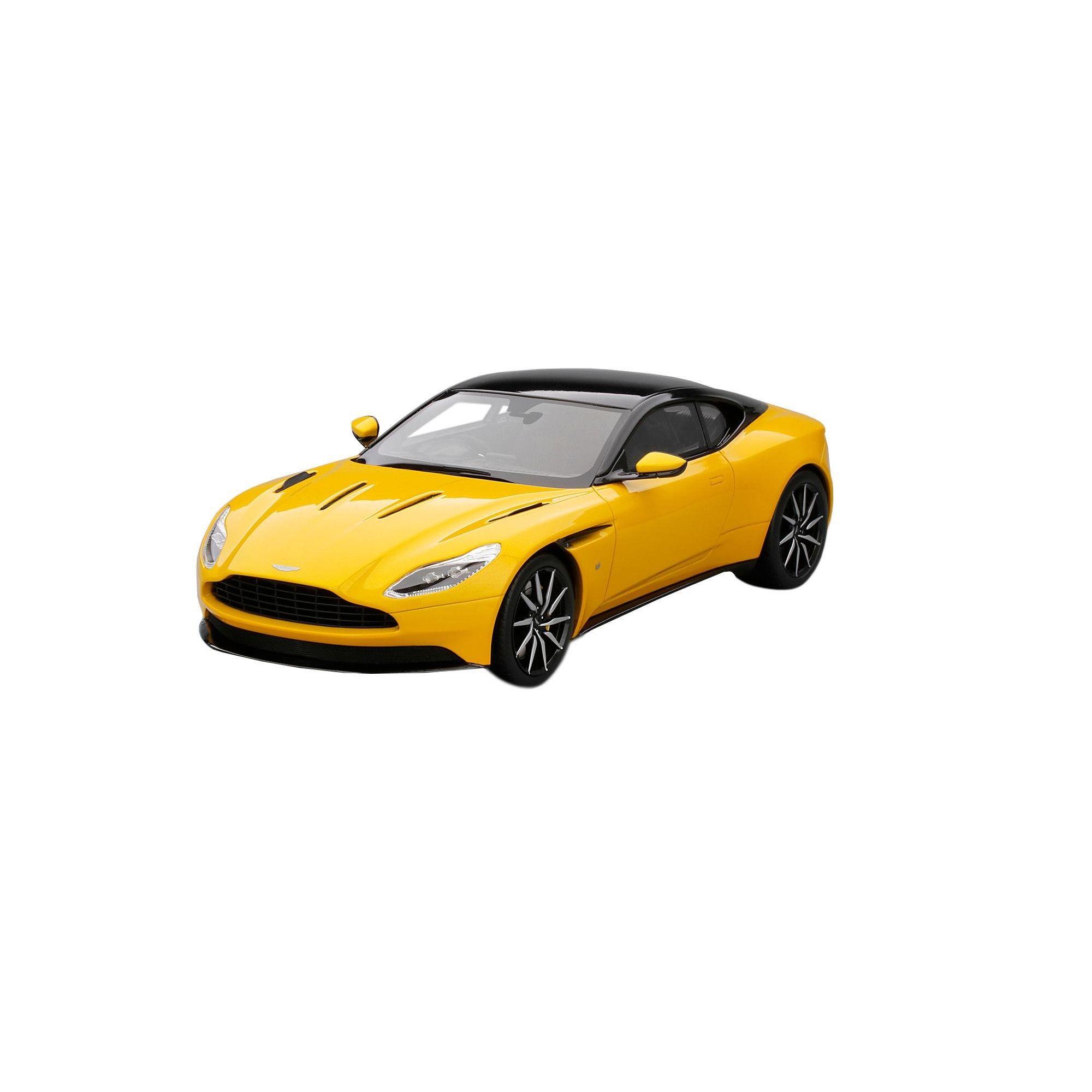 aston martin db11 sunburst yellow with black top limited edition to