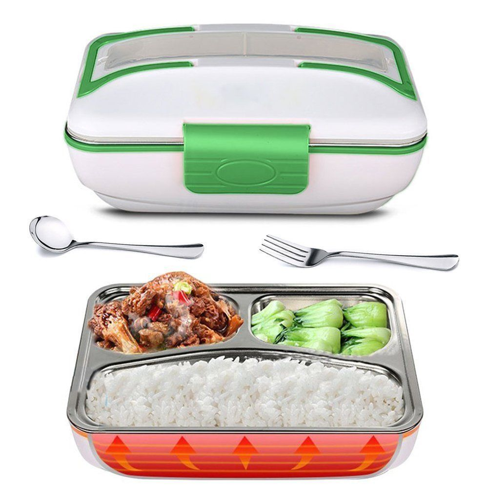 Portable 12V Car Adapter Plug Electric Lunch Box Heated Bento Food Warmer 1.5L