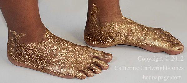 Golden Feet Beautiful Mahadi Design Pinterest Henna Henna