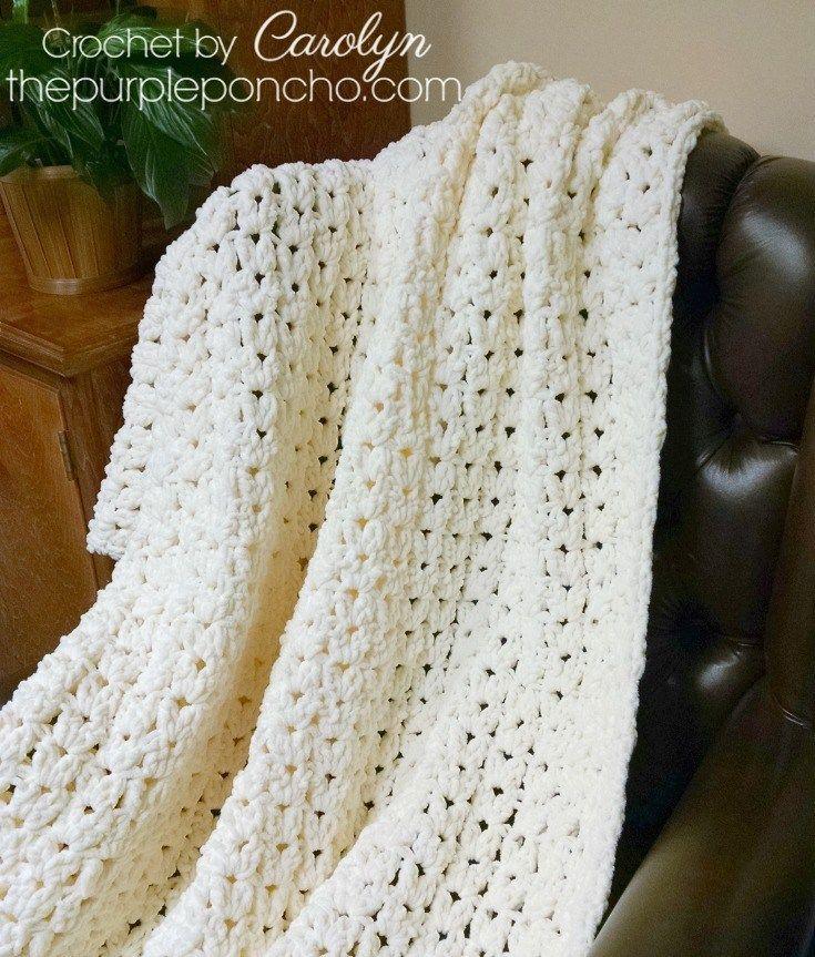 Simple Vintage Blanket is a Free Crochet Pattern by The Purple ...