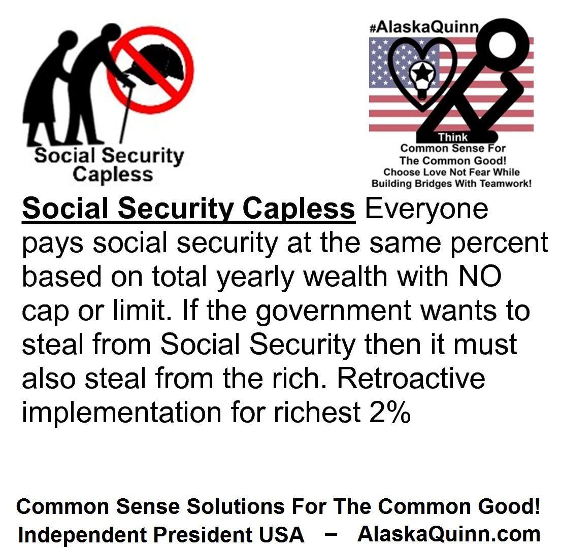 Social Security Capless: Everyone Pays Social Security At