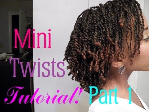 How To Do Mini Twists On Short Medium Length Natural Hair Part 1 Thin Natural Hair Mini Twists Natural Hair Natural Hair Twists