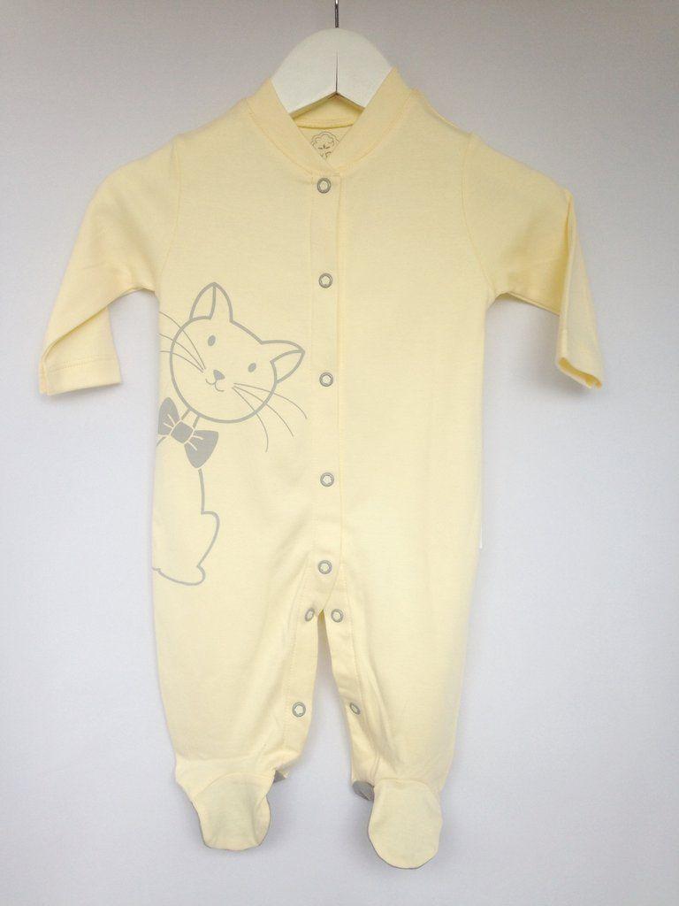 3cc347ede8 Macacão manga longa gatinho amarelo