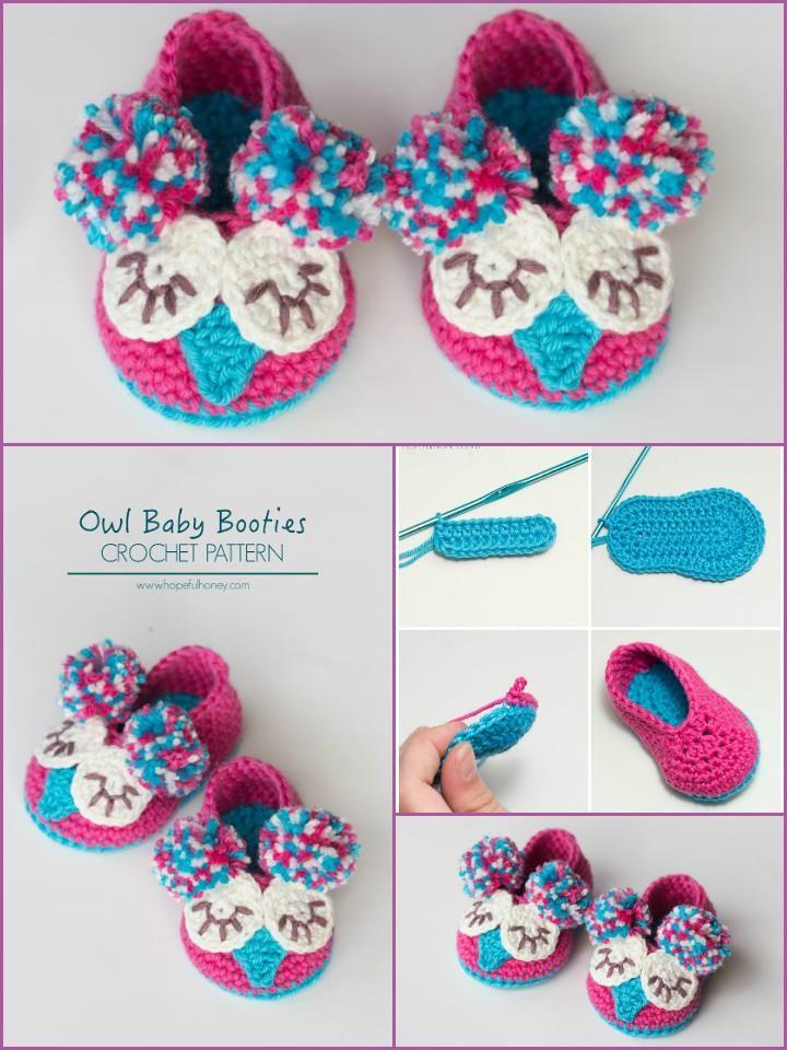 Crochet Baby Booties - Top 40 Free Crochet Patterns | Tejido, Bebe y ...