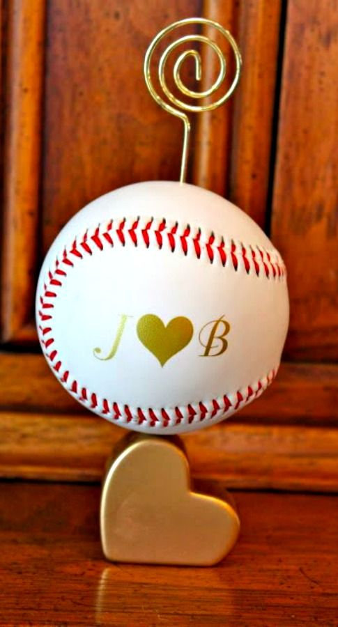Diy Baseball Wedding Place Card Holders The Wedding