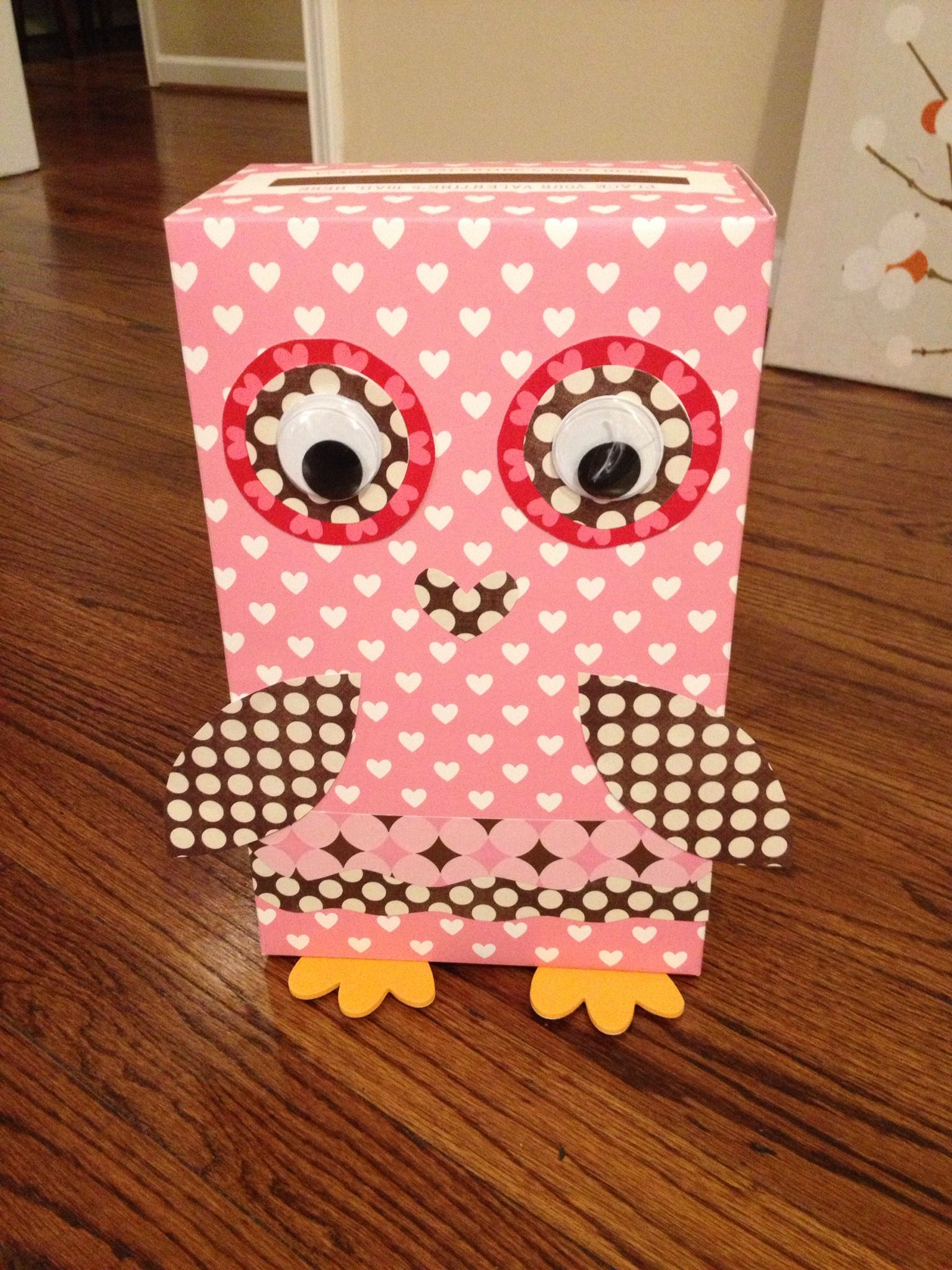 Owl Valentines Day Box