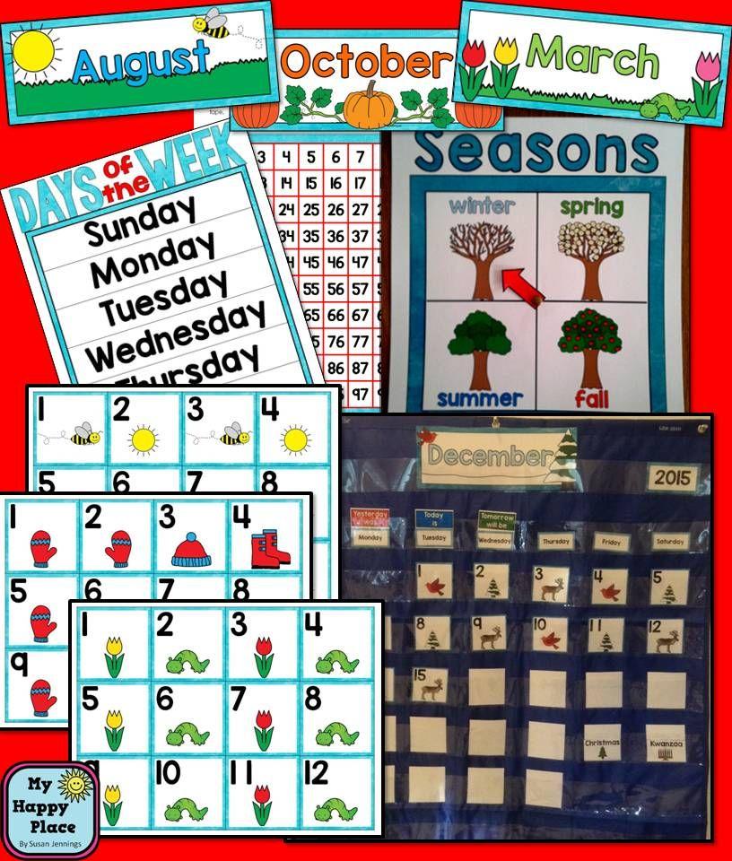 Calendar Set for the Primary Grades   KindergartenKlub com