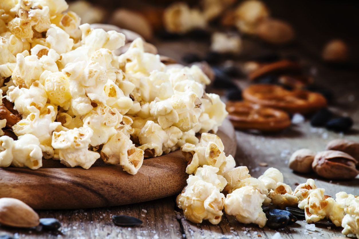 Road Trip Snack Mix 1 serving 1 Cup popped popcorn 2 Tablespoon nuts  (peanut, pistachio, almond, pecan, walnut, etc) 1 Tablespoon dried fruit  pieces (raisin ...