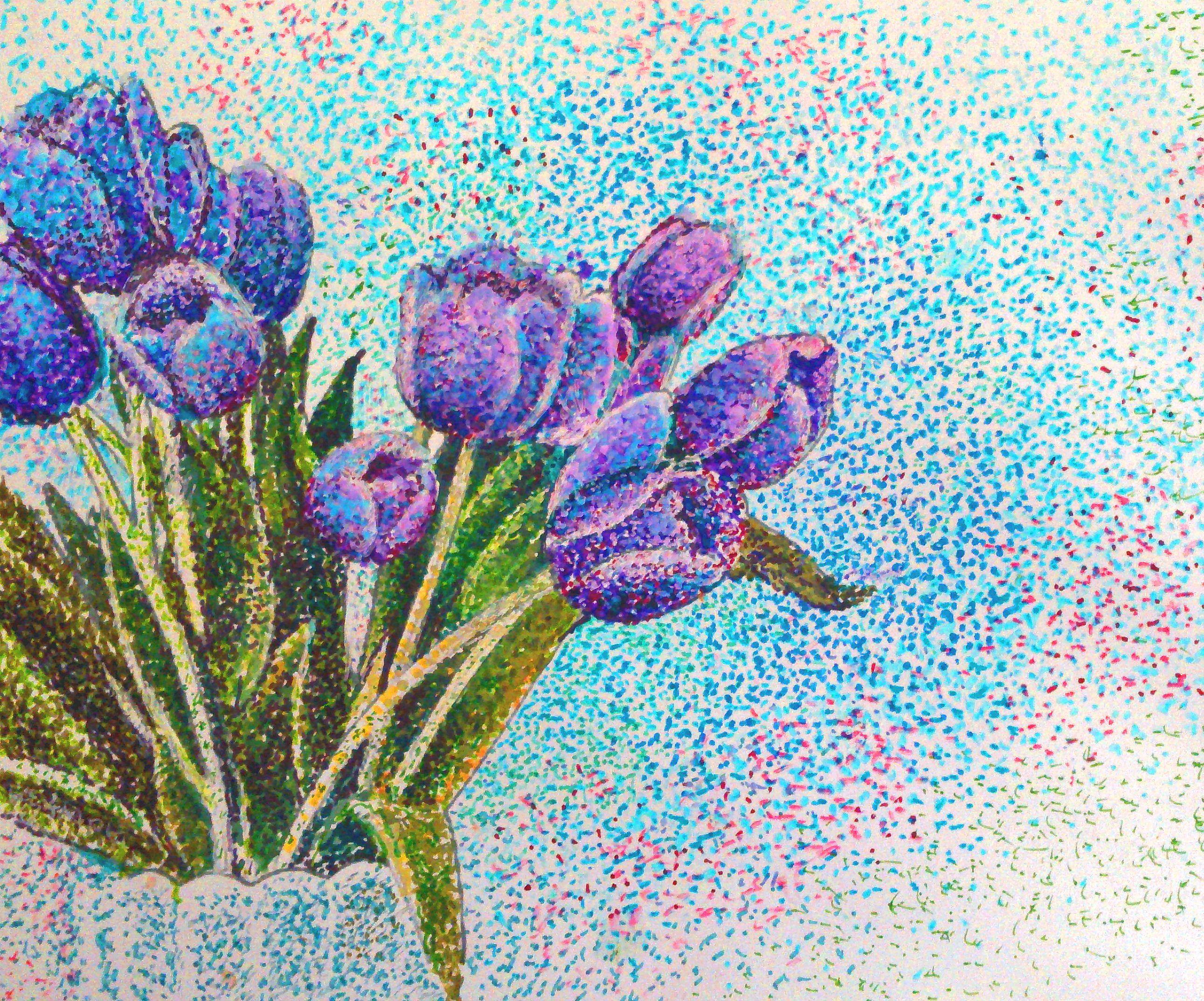 more pointillism!   Dessins en pointillés, Art moderne, Pointillisme