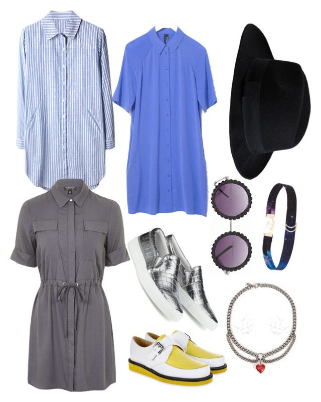 Downtown Afternoon by andwhatsthis on Polyvore featuring polyvore, fashion, style, Topshop, Boutique, Joshua Sanders, T&F Slack Shoemakers, Regal Rose, ASOS and Pieces