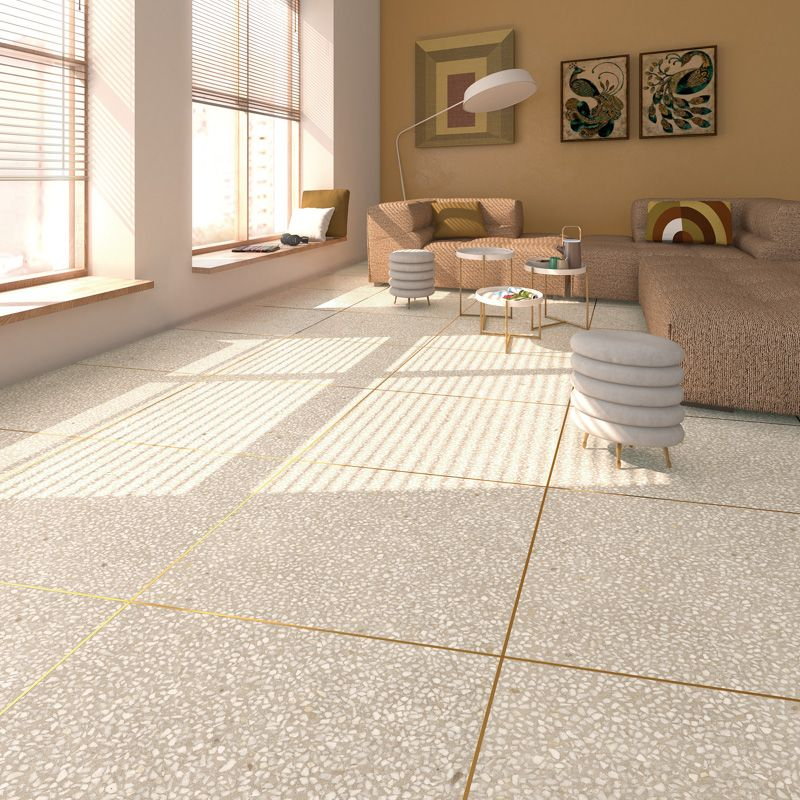 Portofino By Vives Porcelain Wall And Floor Tiles In A Terrazzo Effect With Metallic Edges In 4 Colours Ceramic Wood Tile Floor Tile Floor Living Room Flooring