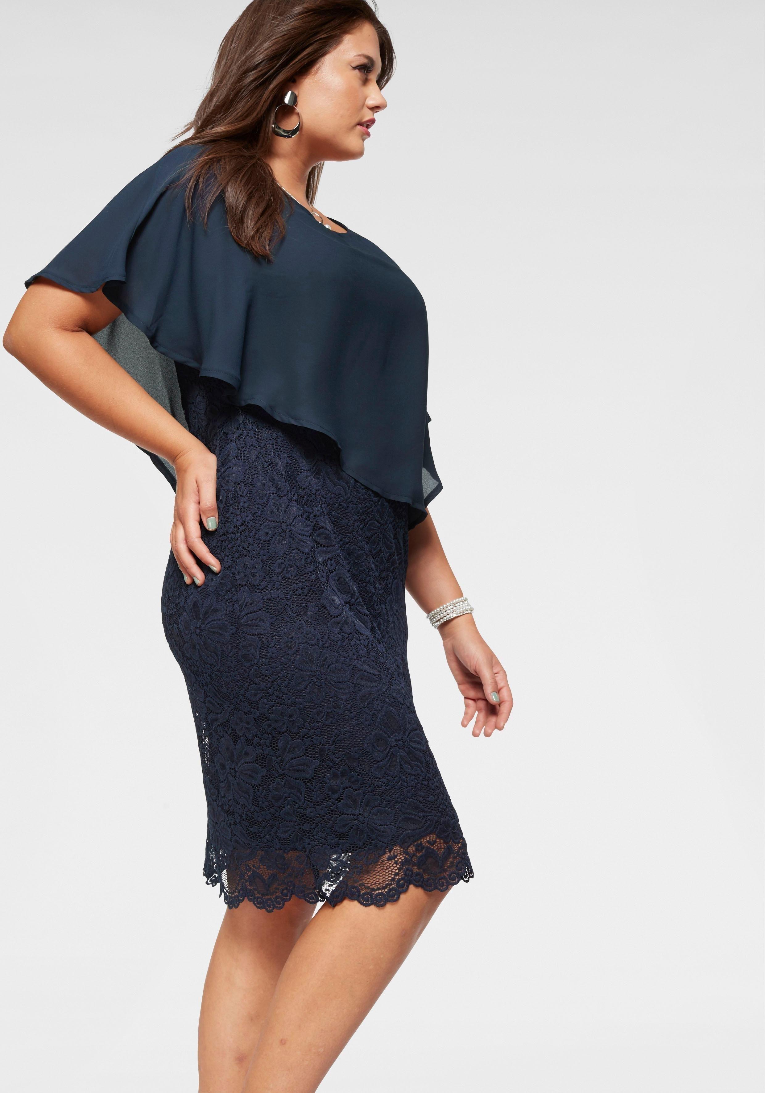 Paprika Spitzenkleid »Kleid aus Spitze und Voile« online ...