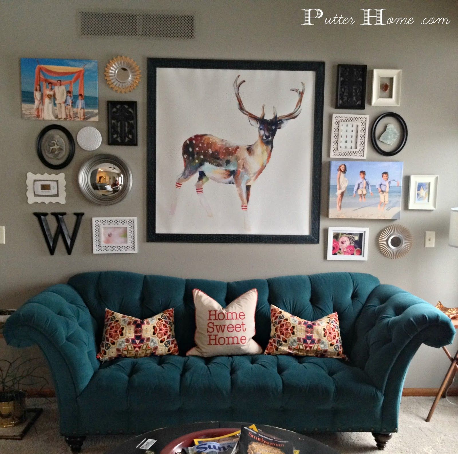 Putter Home Awesome Living Room Wall Collage Living Room Update Living Room Interior Room #photo #collage #in #living #room