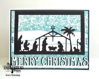 Our Daily Bread Designs Pape Collection: Christmas 2014, Our Daily Bread Designs Custom Dies: Holy NIght, Leafy Edged Borders,  Pierced Rectangles, Merry Christmas Border