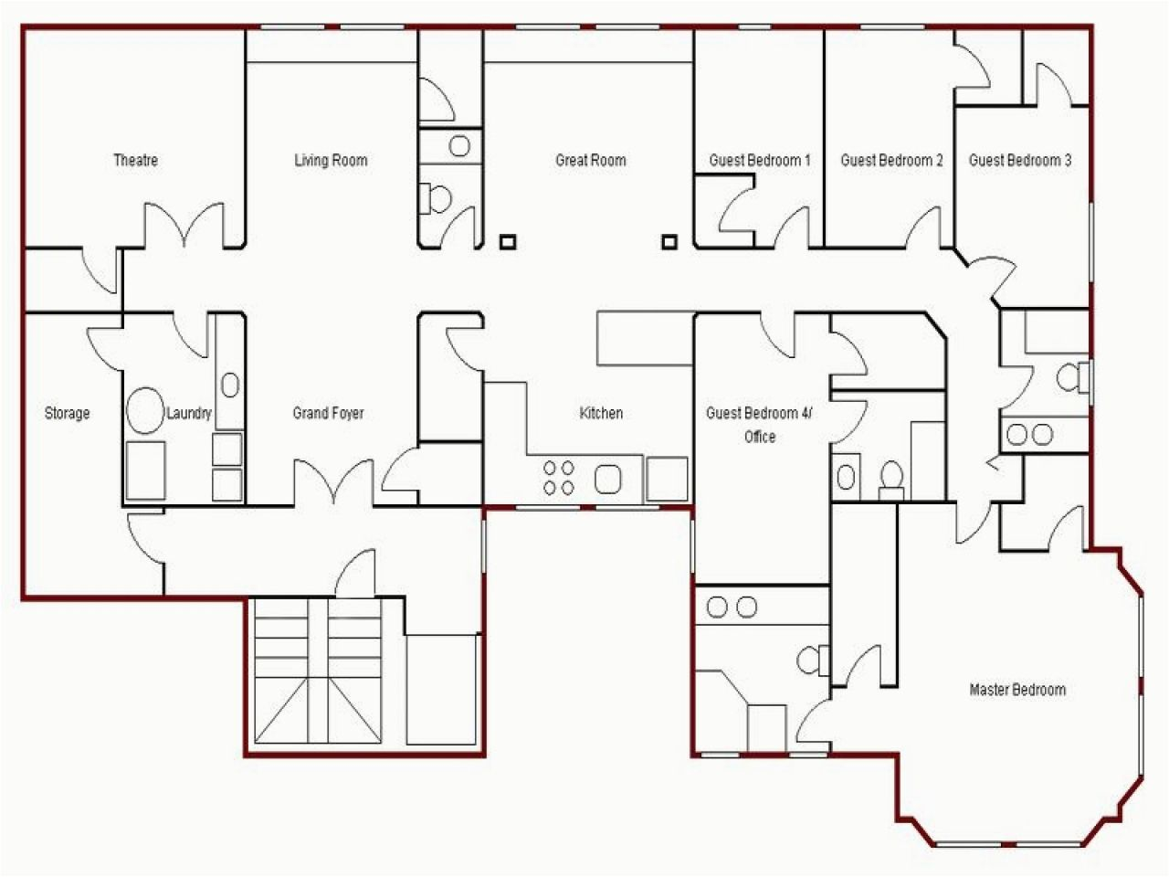 Nice How To Draw Simple House Plans Simple Floor Plans Floor Plan Drawing Floor Planner