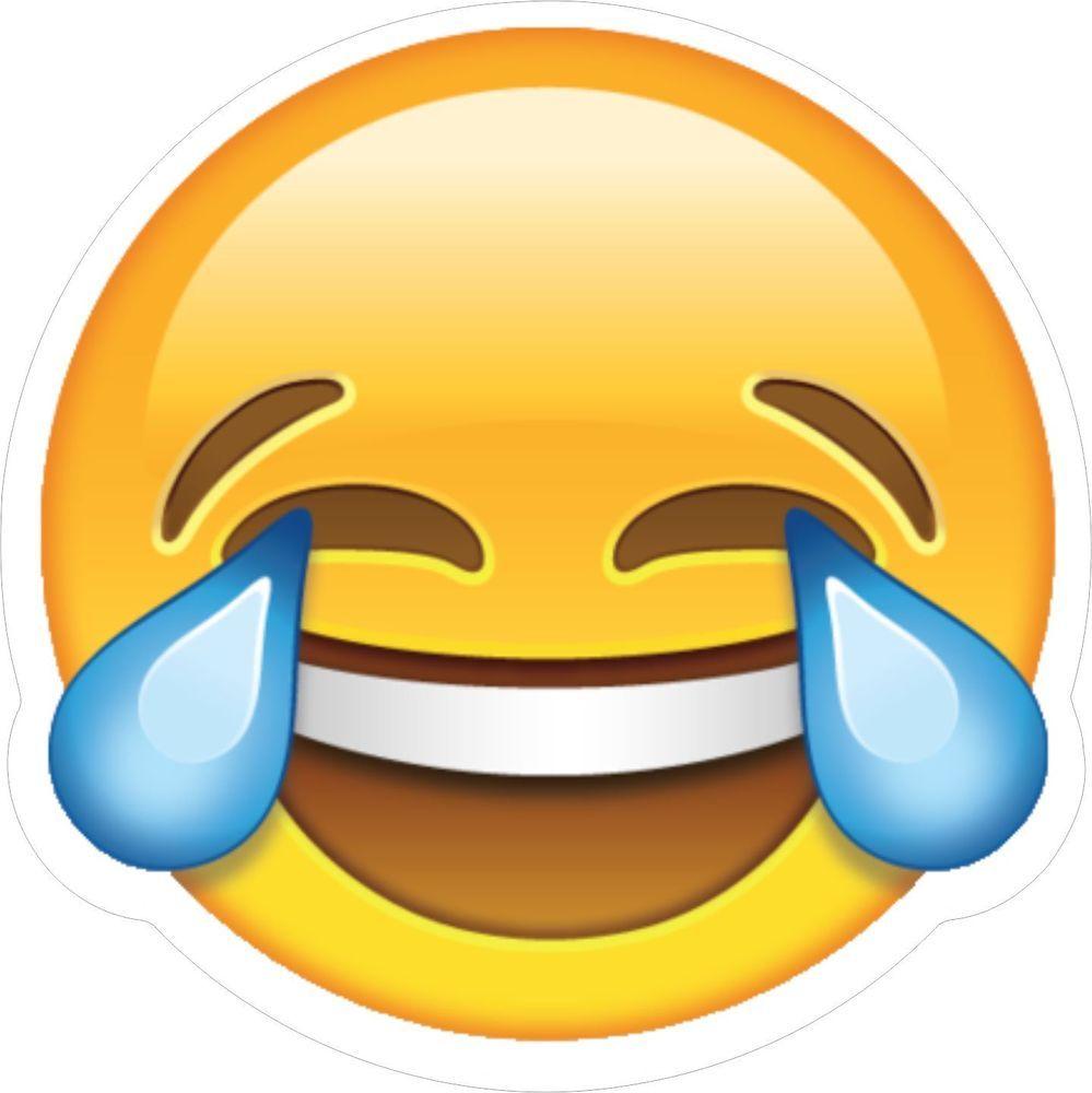 Laughing Iphone Emoji Vinyl Wall Car Van Decal Sticker Laughing Emoji Crying Emoji What Emoji Are You