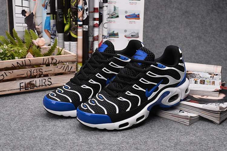 Nike Air Max TN Running Women Men Shoes Black Blue White  56b6a6a67d
