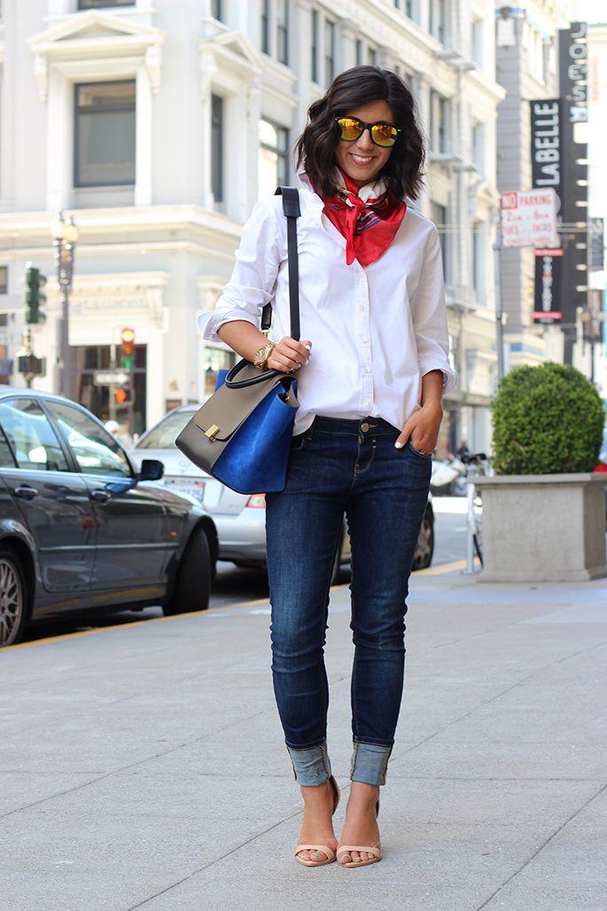 how to accessorize a plain white shirt  fashion white