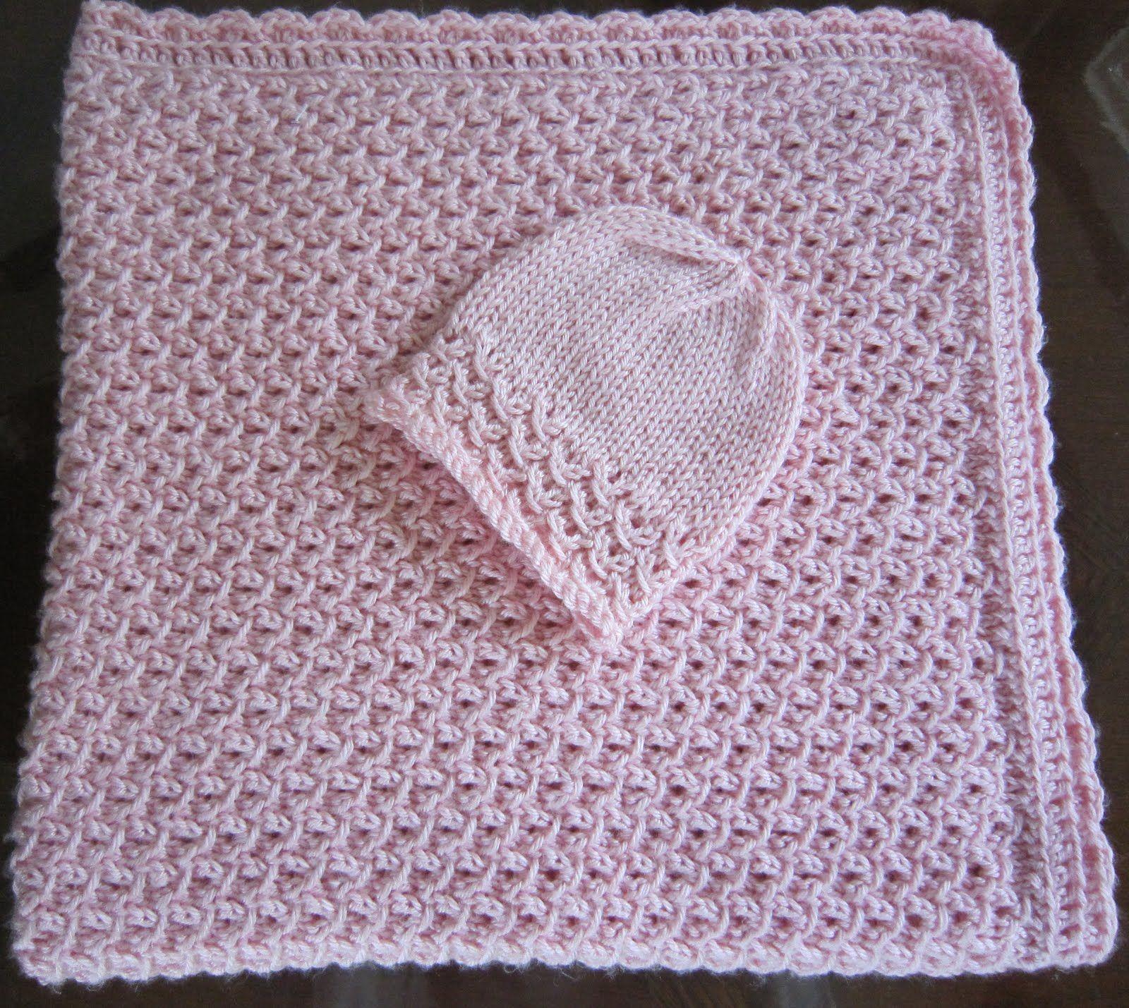 Free crochet patterns baby blankets grandmas free knit pattern free crochet patterns baby blankets grandmas free knit pattern preemie hat and blanket waves bankloansurffo Images
