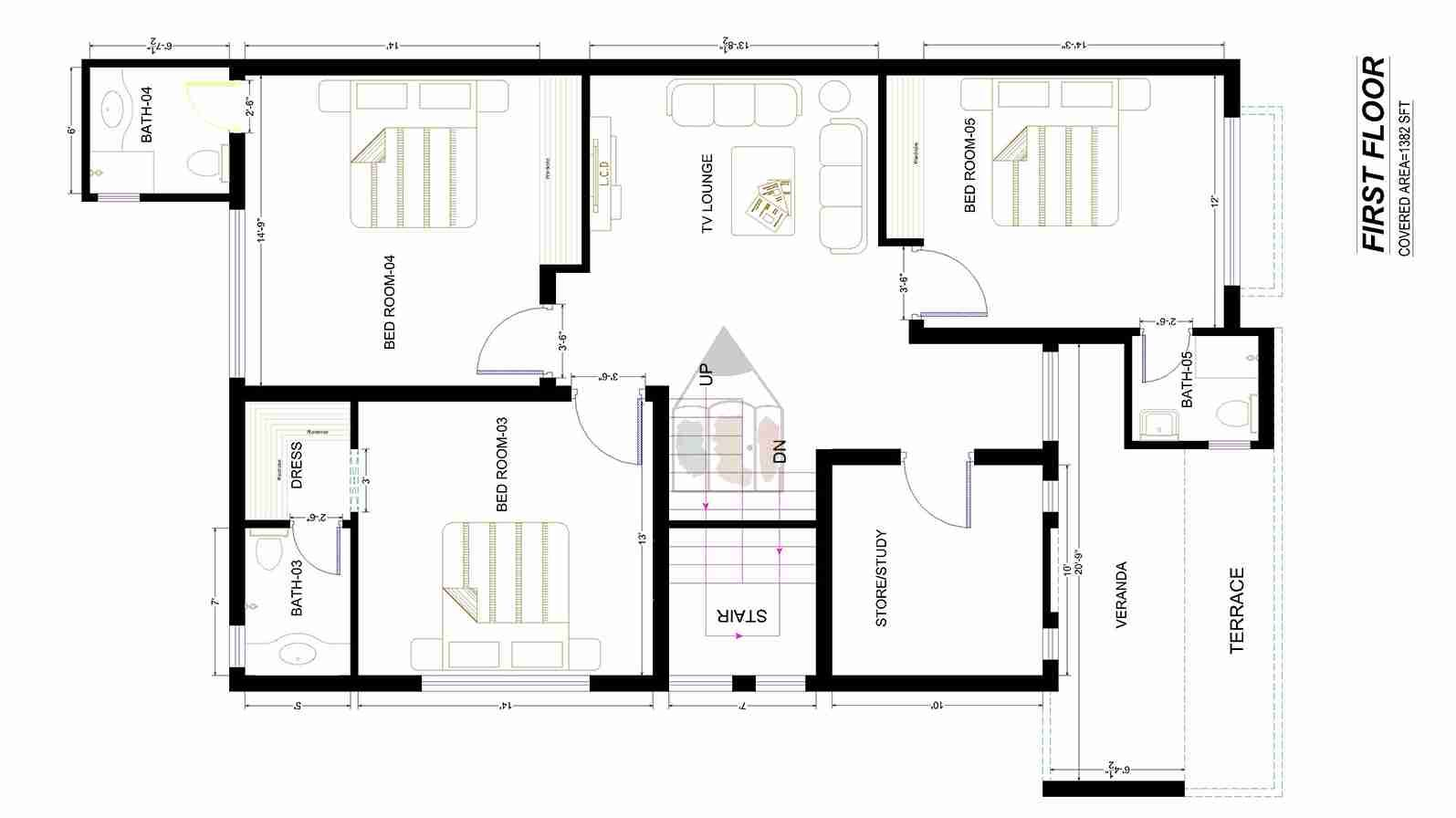 Beautiful 10 marla house plan as its layout plan is for Pakistani house floor plans