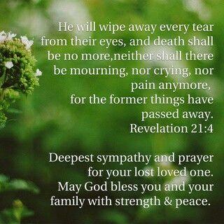 PrecipT A Bible Verse And Condolence Message  My Prayer My