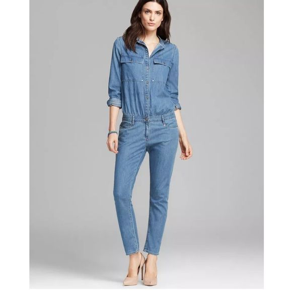 cd70446ba88 Denim jumpsuit Trendy denim jumpsuit pairs great with heels or for a casual  look wear with cute sandals ! Spoon Pants Jumpsuits   Rompers