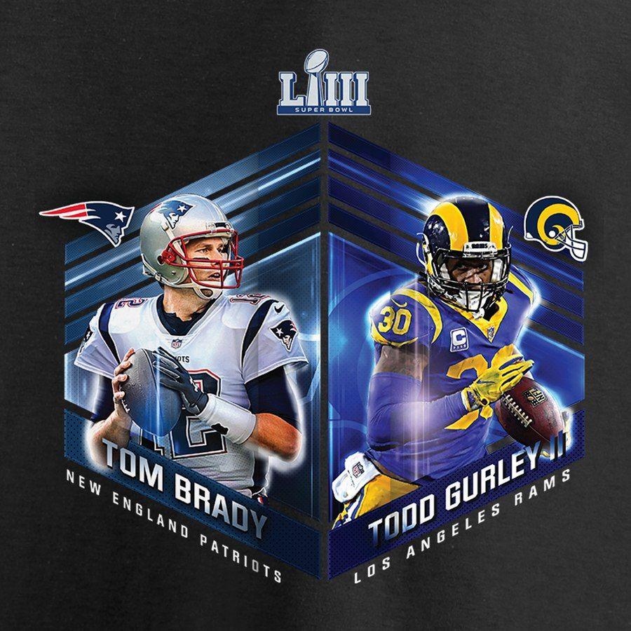 Los Angeles Rams Vs New England Patriots Nfl Pro Line By Fanatics Branded Super Bowl Liii Bound Dueling Audible Los Angeles Rams Patriots New England Patriots