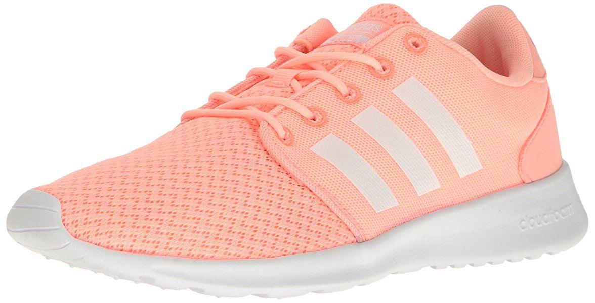 7a85be13254 adidas NEO Women's Cloudfoam Qt Racer W Running Shoe, Haze Coral/White/Sun  Glow, 7.5 M US