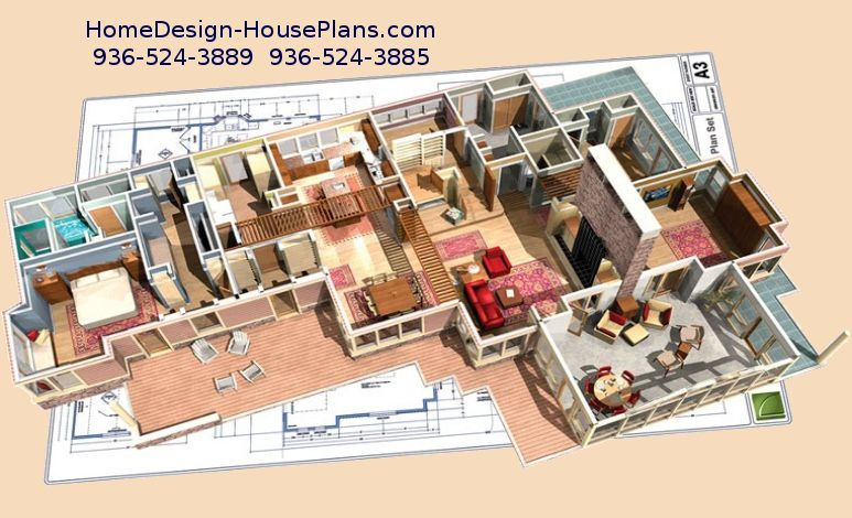 Home Designers Lake Conroe And Houston House Plans For Custom Homes Using  Professional Chief Architect Software