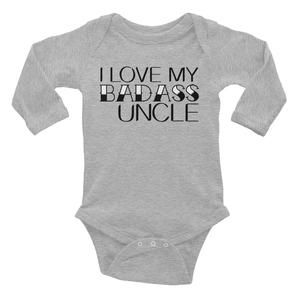 Personalised Baby Bib Funny Gift Present Clothing My Uncle Loves Me not Cars