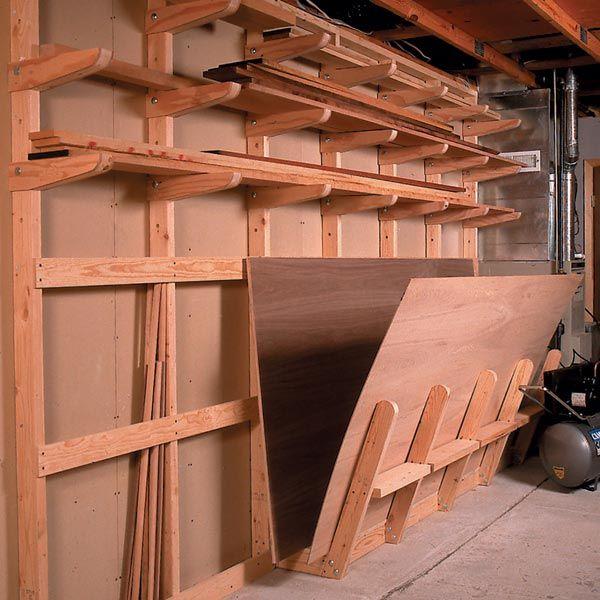 Plywood Garage Cabinet Plans: Plywood Storage, Lumber Rack