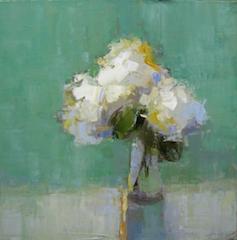 Barbara Flowers -Hydrangeas in Green Room