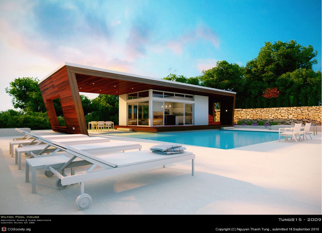 Wilton Pool House By Nguyen Thanh Tung 3d Cgsociety