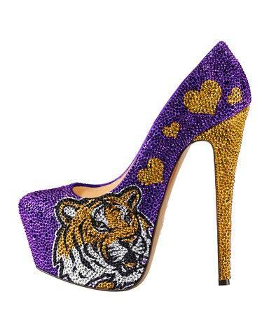 Lsu Tigers Heels Tiger Lady Muses Shoes Crystal Pumps