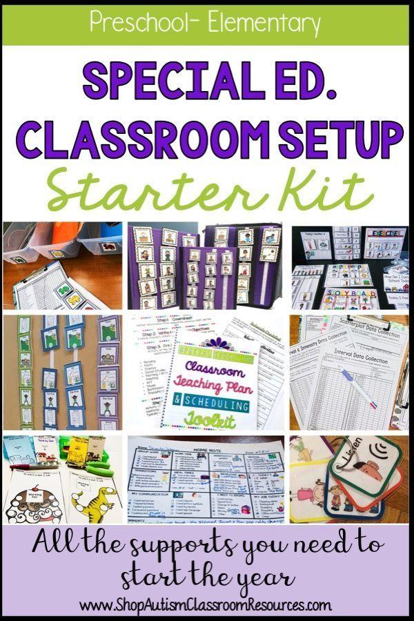 Preschool-Elementary Special Education-Autism Classroom Starter Bundle #preschoolclassroomsetup