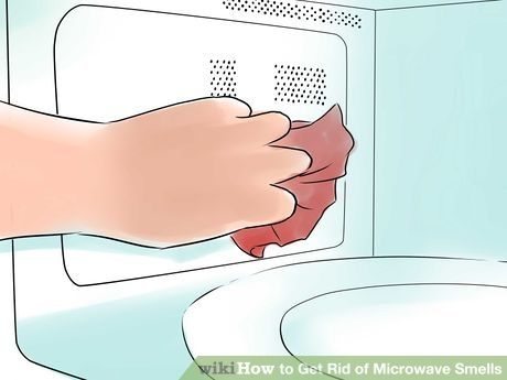 how to remove smell from microwave ovens
