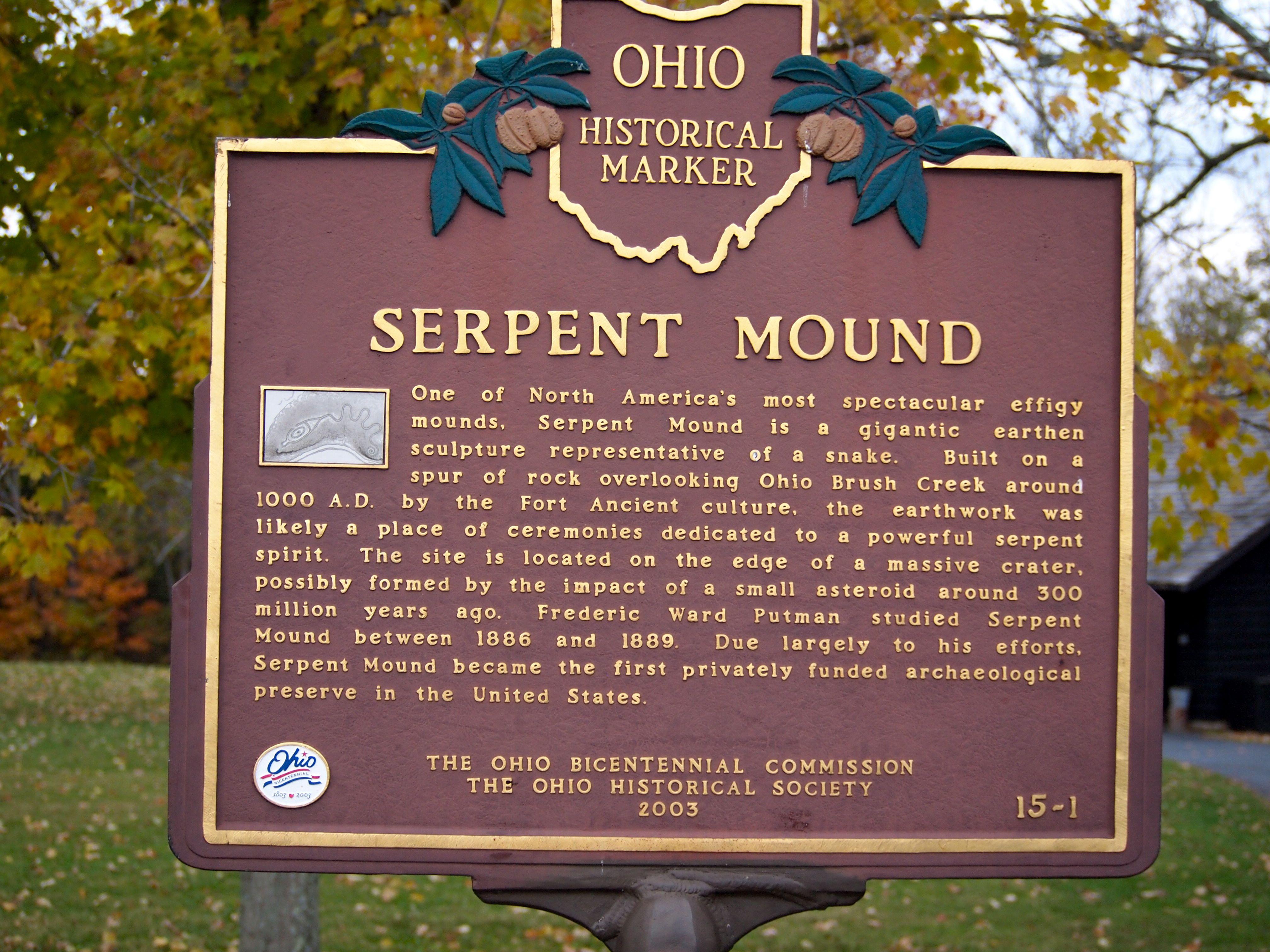 Serpent Mound Ohio History Kentucky Travel Serpent Mound Ohio