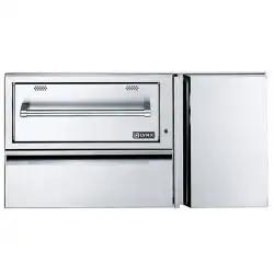 Outdoor Warming Drawers Buffet Servers Bbqguys Outdoor Kitchen Cabinets Outdoor Kitchen Warming Drawer