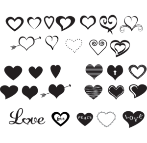 Today S Freebie Hearts Solid Hearts Open Hearts Decorative Hearts Free Cricut Images Hearts Free Free Svg