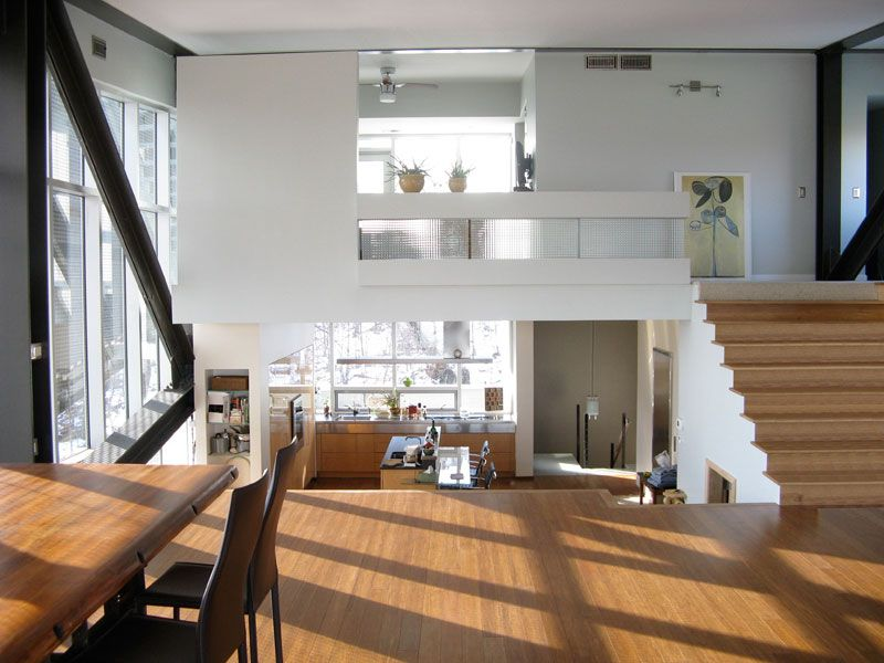 Floating structure modern house design with industrial style archinspire also rh pinterest