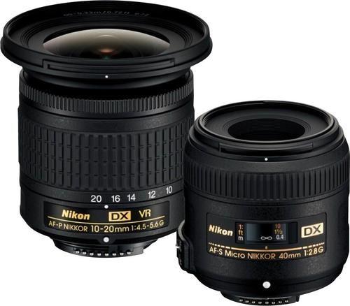 Af P Dx Nikkor 10 20mm F 4 5 5 6g Vr Wide Angle Zoom Lens And Af S Dx Micro Nikkor 40mm F 2 8g Macro Lens For Nikon Dslr Black 13534 Best Buy Camera Nikon Macro Lens Nikon
