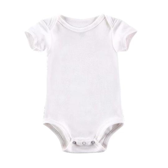 White Baby Bodysuit Boy Girl Clothes Blank Unisex Newborn Baby Clothes Dresskily Summer Baby Clothes Newborn Clothes Unisex Boys Summer Outfits