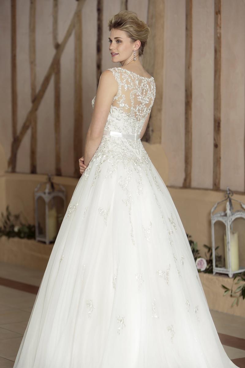 Metallic wedding dress  Antonia  A stunning ballgown style dress featuring a metallic