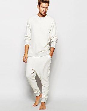 Asos Loungewear Set In Reverse Loop Back Fabric Mens Loungewear