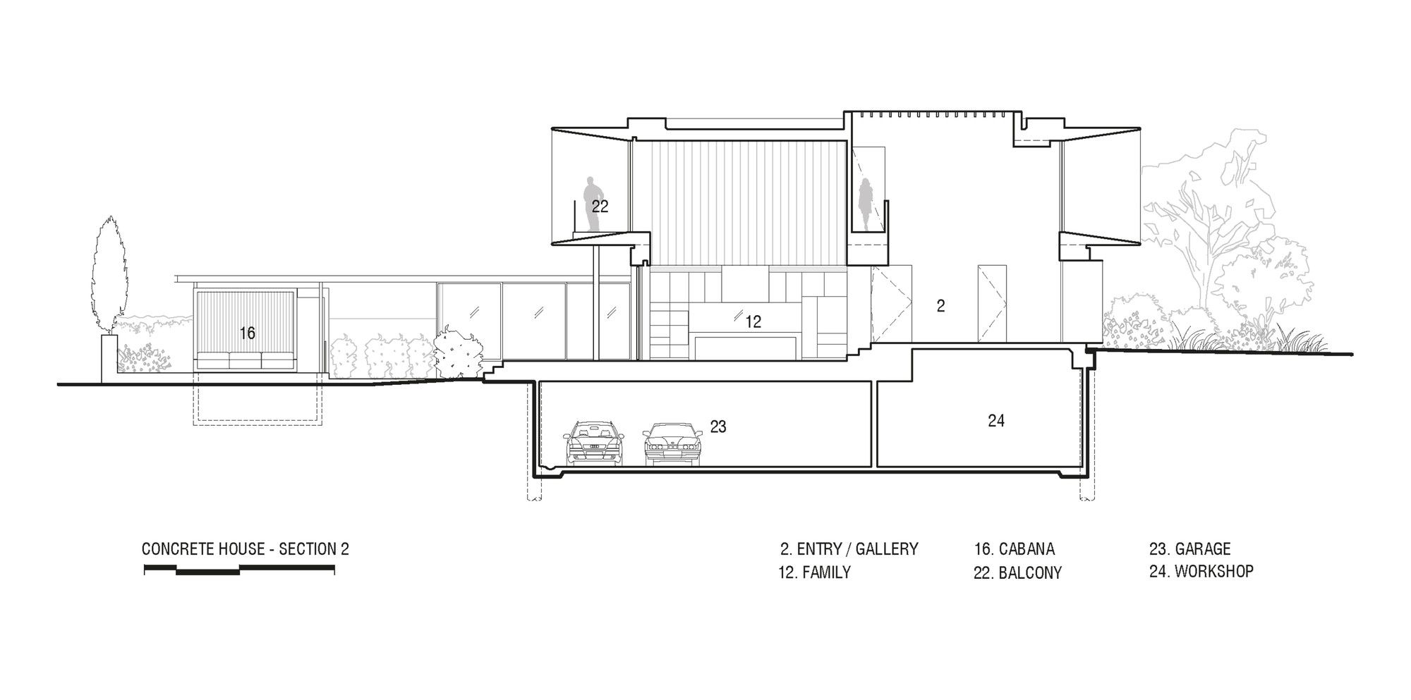 Gallery Of Concrete House Matt Gibson Architecture 25 Concrete House Architectural Section Architecture Design