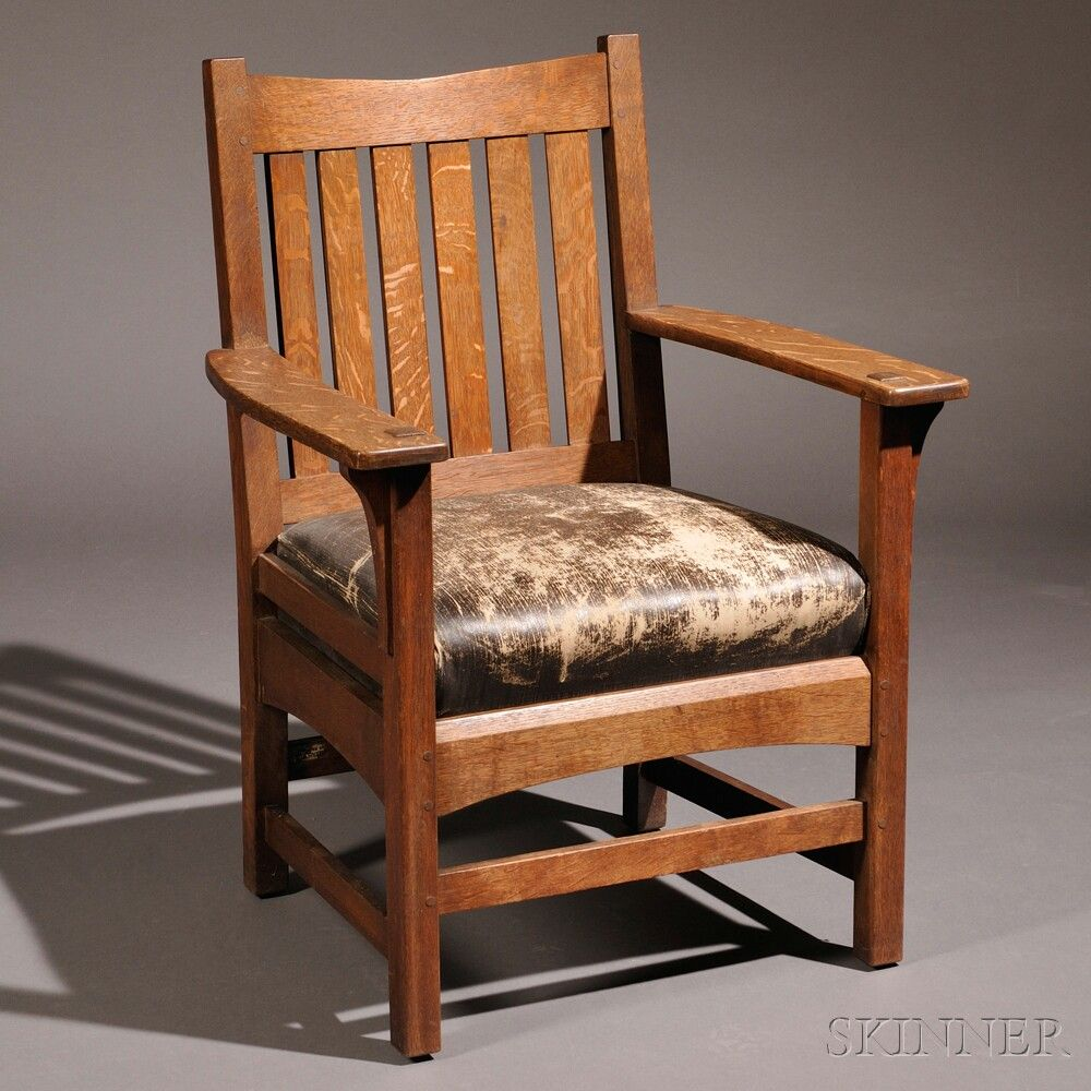 Attirant L. U0026 J.G. Stickley Armchair | Sale Number 2661B, Lot Number 291 | Skinner