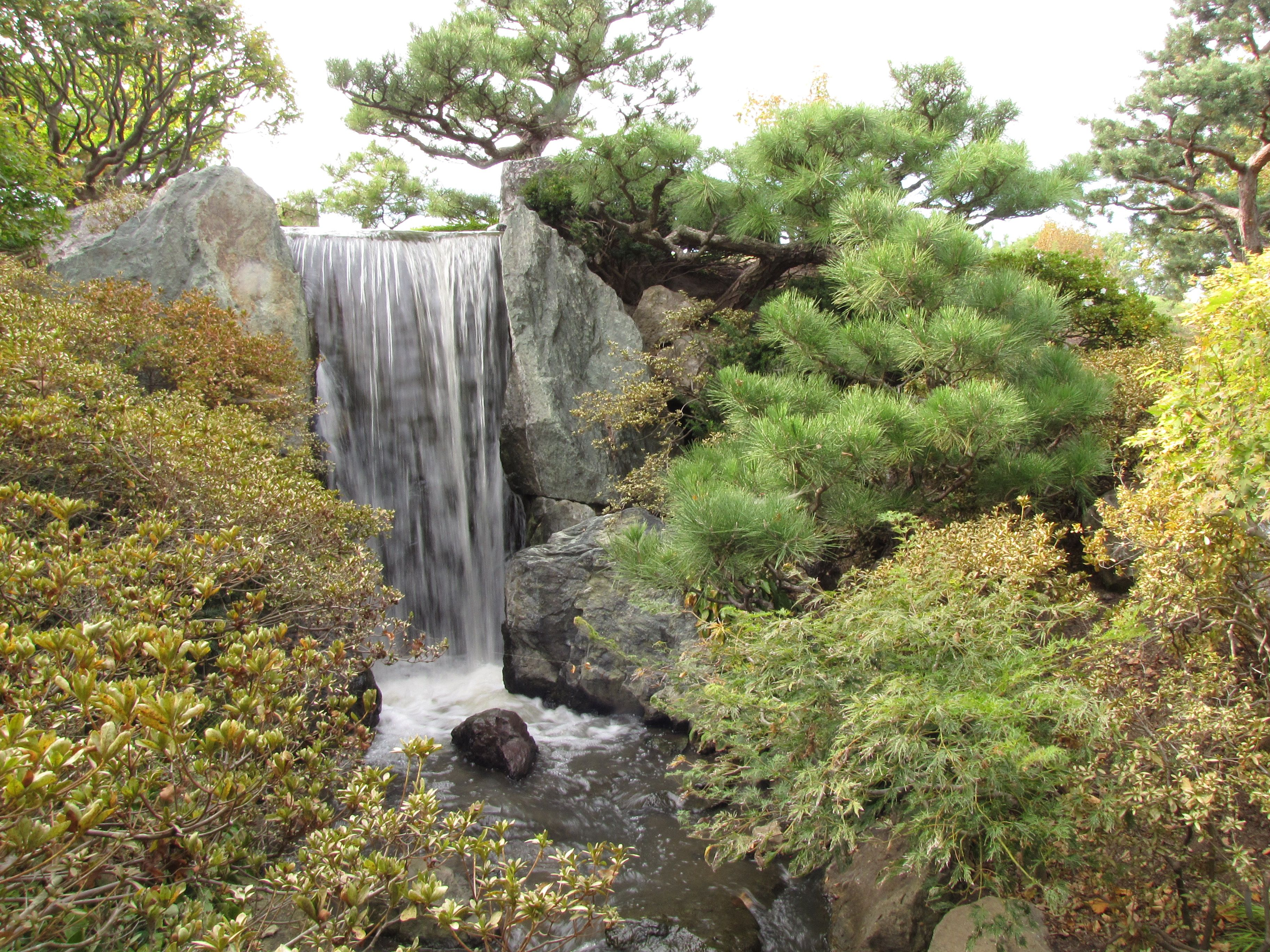 Japanese Gardens Waterfalls | WATERFALL IN THE JAPANESE GARDEN