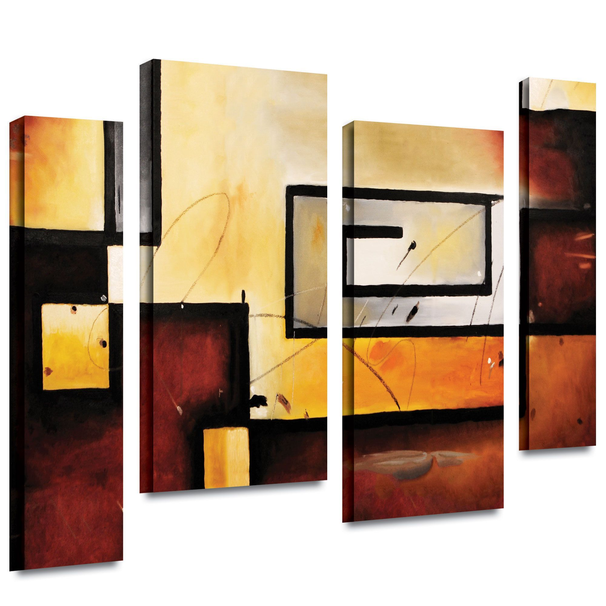 ArtWall \'Jim Morana\'s Abstract Modern\' 4-piece Gallery Wrapped ...