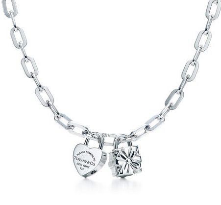 ce867a351 Return to Tiffany & Co Heart and Box Charm Necklace | Gifts ...